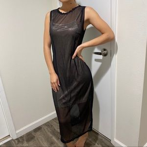 D&G vintage black see through slip dress